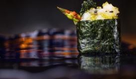 Gunkan-maki Salát z chobotnice